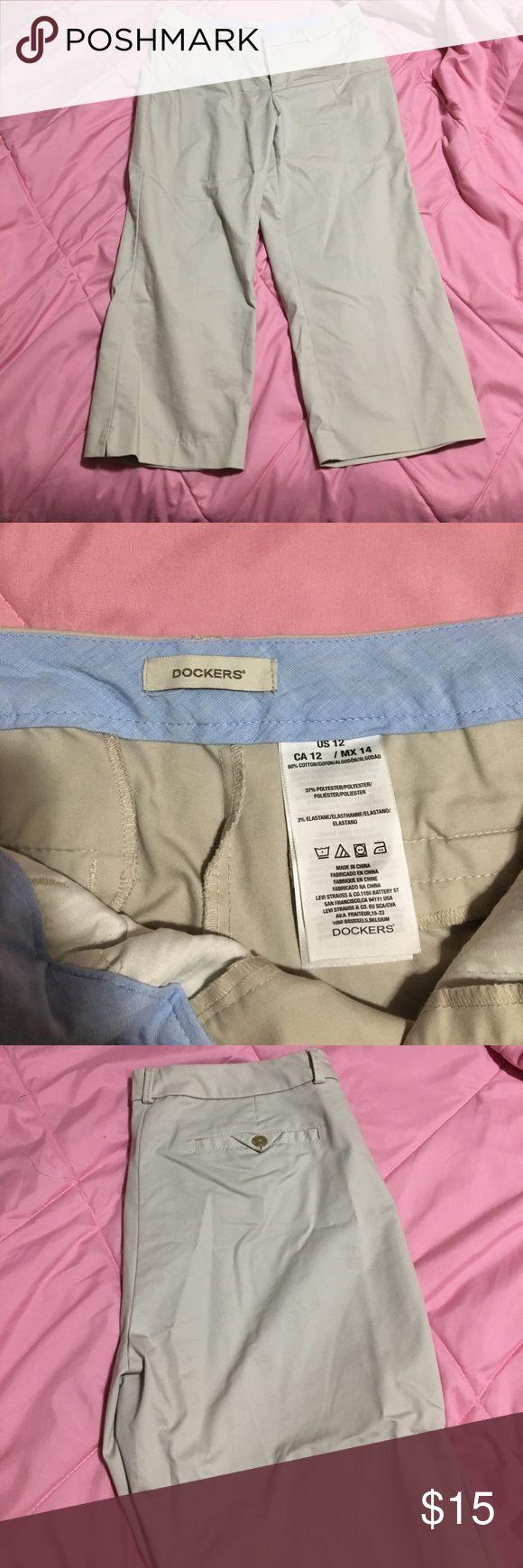 Dockers khaki Capri dress pants Dockers women's size 12. Khaki Capri pants. Dockers Pants Capris