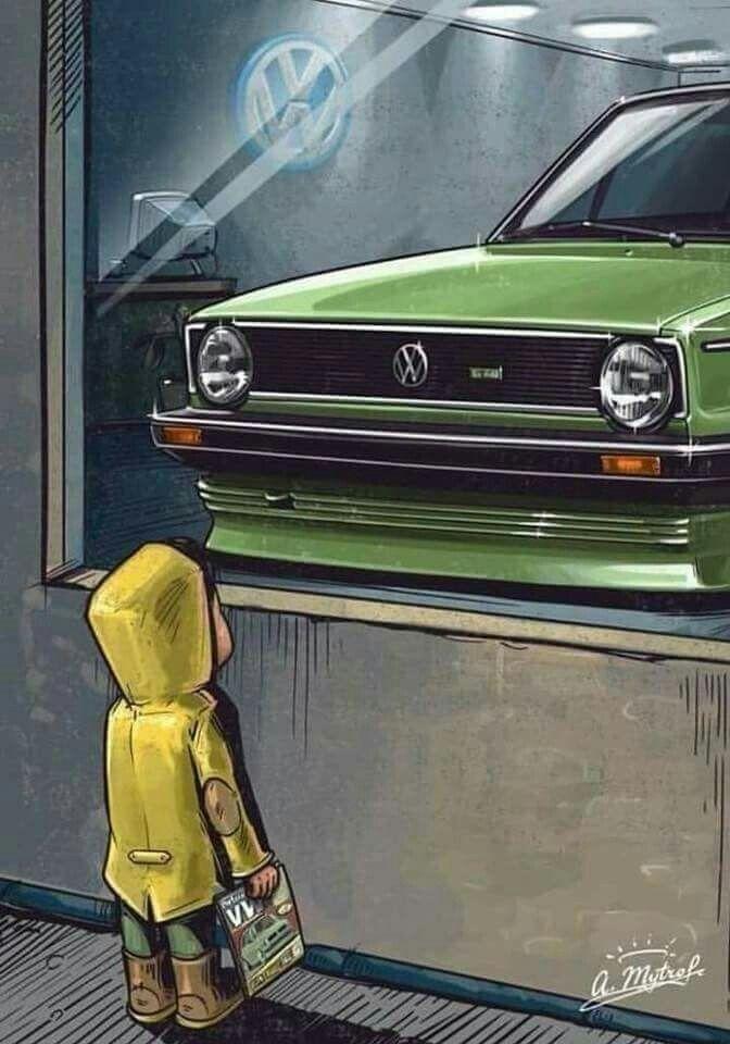 Pin By Milada Rihova On Carro Vw Art Volkswagen Golf Mk1 Volkswagen Golf Gti