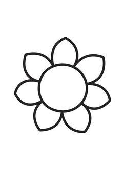 Kleurplaat bloem