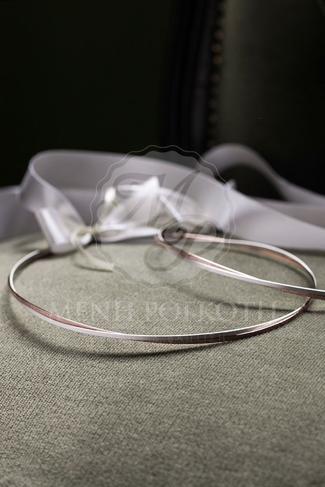 Braided silver plated wedding crowns