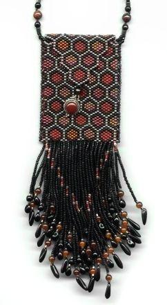 hexagon peyote amulet bag