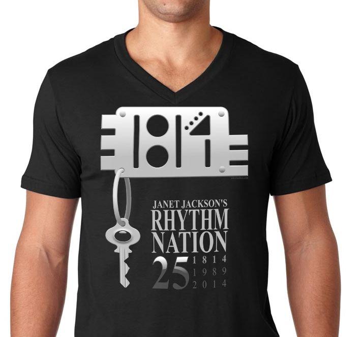 Janet Jackson's Rhythm Nation's 25th anniversary Tshirt. Yours at http://tudi.spreadshirt.com/rhythm-nation-s-25th-anniversary-A101679789/customize/color/2