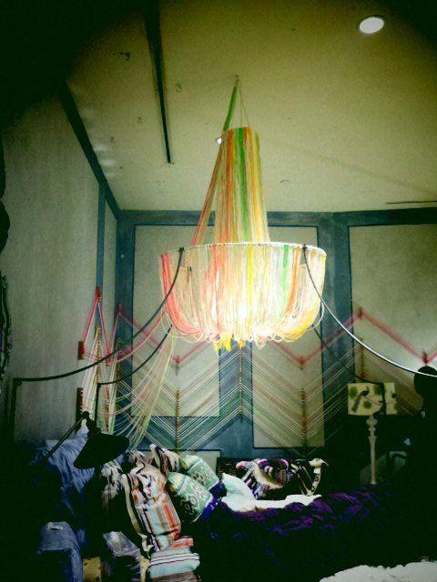 Anthro yarn chandelier by emily engdahl, via Flickr