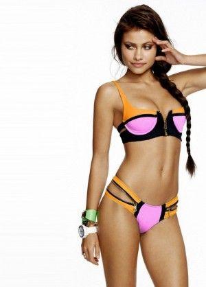 Strój Kąpielowy Push Up Bikini Neopren Zamki 3198-1