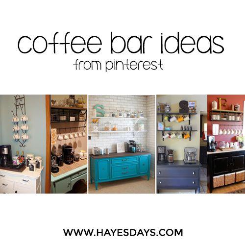 Home Day: Coffee Bar Ideas