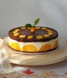 Tarta mousse de naranjas