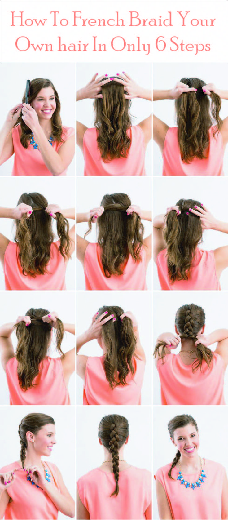 Easy Tutorial Ever To French Braid Your Hair For A Glamorous Look Design Model E In 2020 Braided Hairstyles Easy French Braid Short Hair Braids For Short Hair