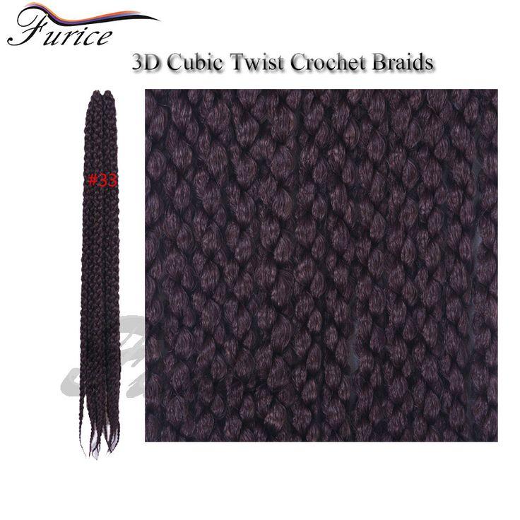 Burgundy Braiding Hair 24inch 3D Cubic Crochet Hair Extensions Cheap Hair Bundles Havana Mambo Twist Synthetic Ombre 3D Cubic