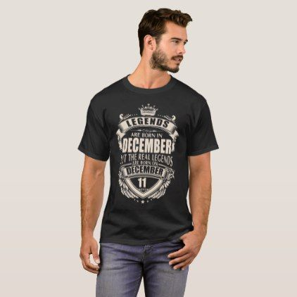 Kings Legends Are Born On December 11 T-Shirt - personalize gift idea diy or cyo