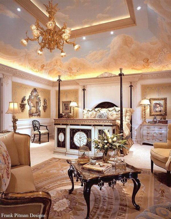 Opulent master bedroom elegant rooms pinterest for Opulent bedrooms