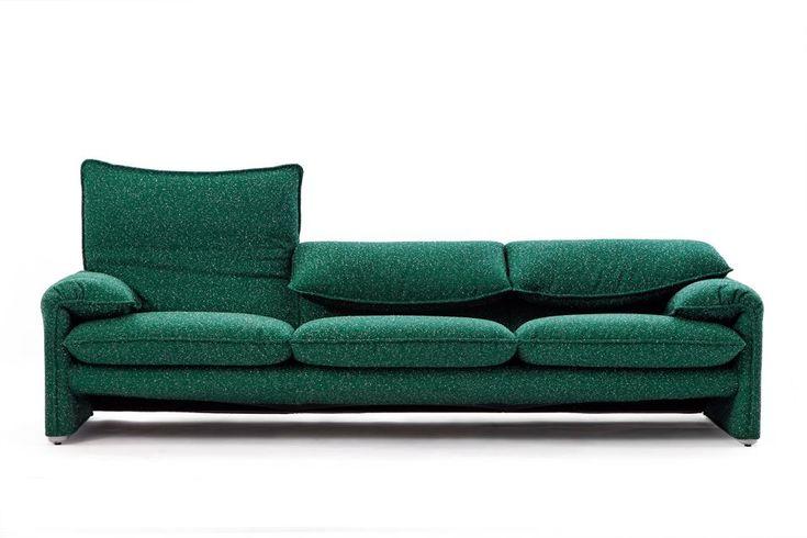 Sofas & Co Maralunga Cassina, designed by Vico Magistretti in the '70s,