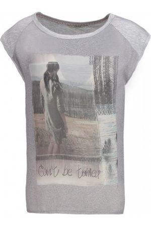 Damesshirts met korte mouw - Only ONLCLIO Tshirt print light grey melange