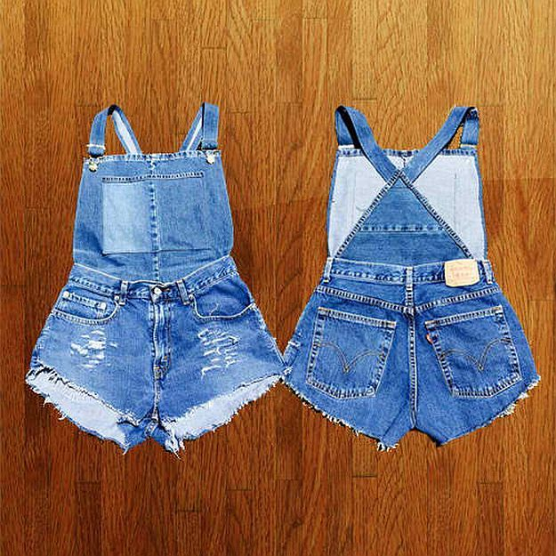 Love Overalls but don't have a budget to buy a new one? Worry no more because you can DIY it out from your old jeans or whatever clothing material you like.