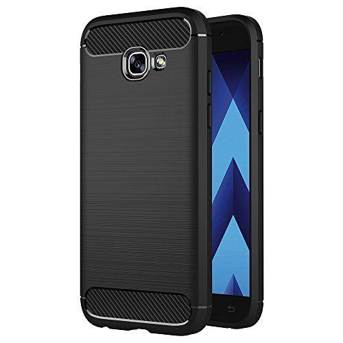 cool Funda Samsung Galaxy A5 2017, AICEK Negro Silicona Fundas para Galaxy A5 2017 Carcasa A520 (5,2 Pulgadas) Fibra de Carbono Funda Case