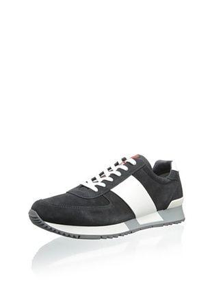 36% OFF Prada Men's Sneaker with Stripe (Grey/White)