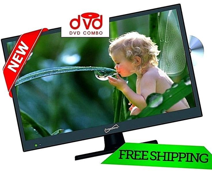 """TV HD Supersonic 15"""" w/ Built-in DVD Player LED 720P HDTV Flat Screen Monitor  #Supersonic"""