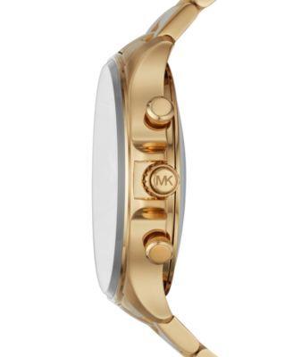 Michael Kors Access Men's Reid Gold-Tone Stainless Steel Hybrid Smart Watch 45mm - Gold