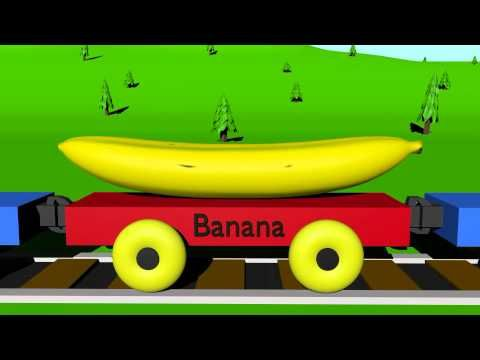 """The Fruit Train - Learning for Kids"" - My dude likes to screech out the fruit names as they roll by. And the kid who narrates this series is textbook-squeaky/adorable."