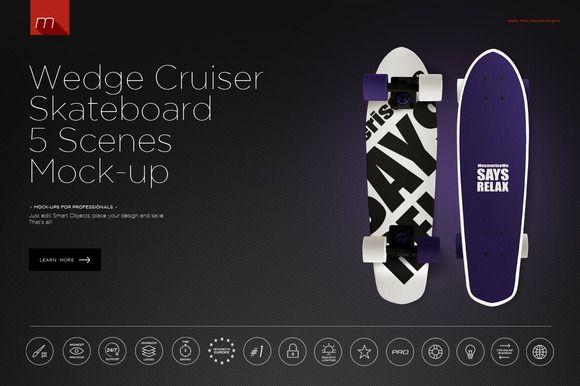 Wedge Cruiser Skateboard 5 Scenes by mesmeriseme.pro on @creativemarket