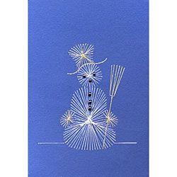 Stitching Cards Snowman