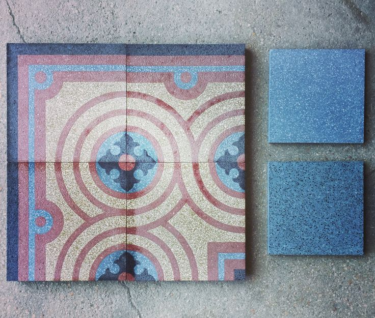 Patterns in terrazzo - decori in graniglia. #interiorstyling #interiordesign #creative #interiorstylist #decorare #decoration #blue #red #grey  #terrazzo #graniglia #grandinetti #madeinitaly #floors #floortiles #pavimento #fattoamano #handmade #arredare #artigianato #eye #design #samples #bespoke #style #photooftheday