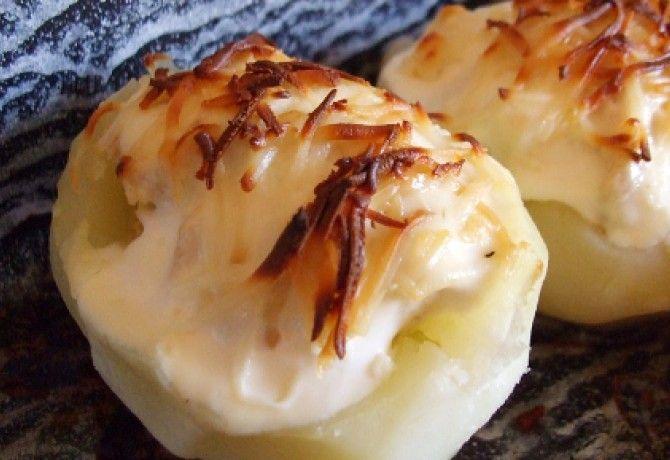 Gyros hússal töltött krumpli