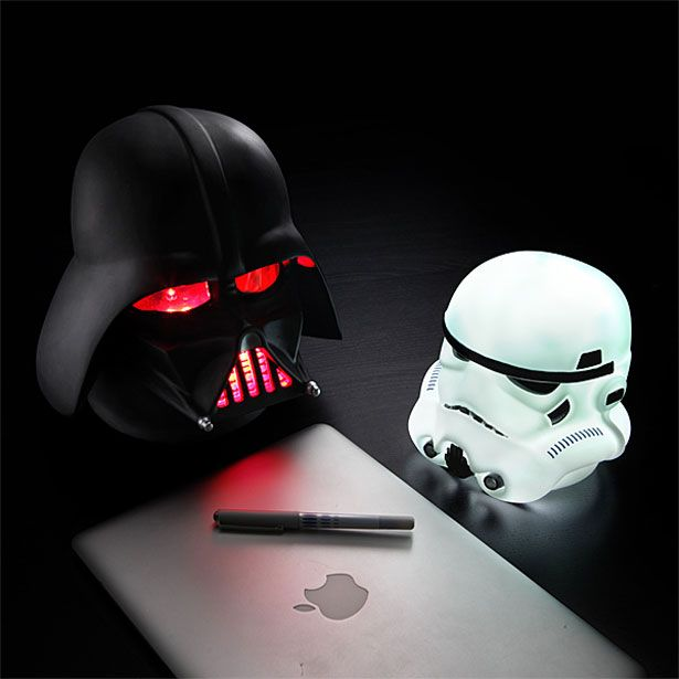 Darth Vader & Stormtrooper Lamps #thinkgeek.com #ShortList Magazine
