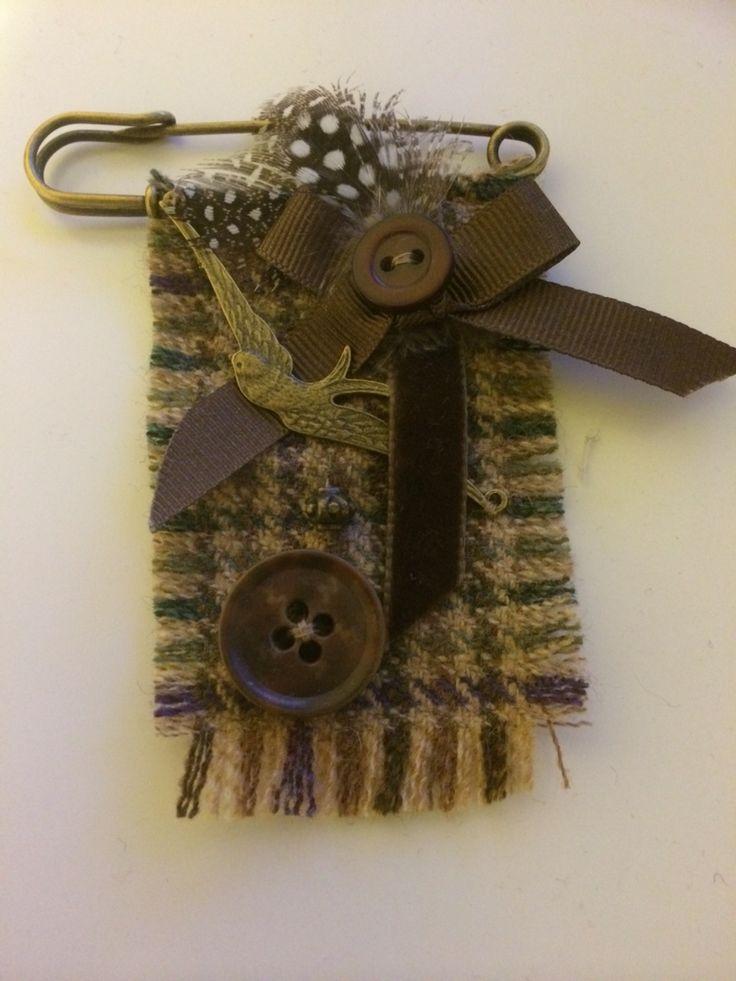 Kilt pin tweed brooch                                                                                                                                                                                 More