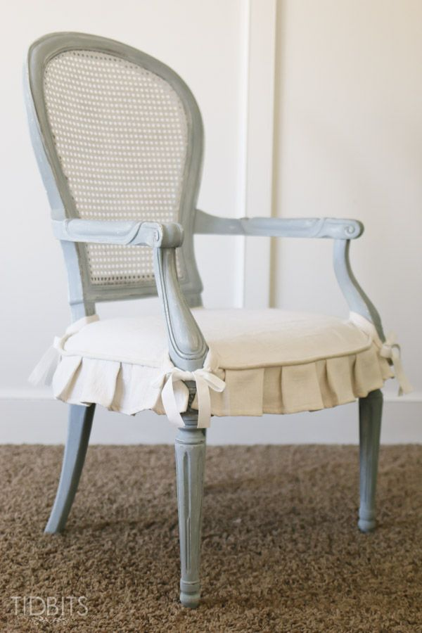 A Thrift Store Chair Finds Its Beauty Again With Some Paint And A  Slipcover. Get