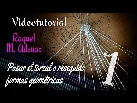 Paso del Torzal o Reseguido 1 + 1. Bolillotutoriales Raquel M. Adsuar - YouTube