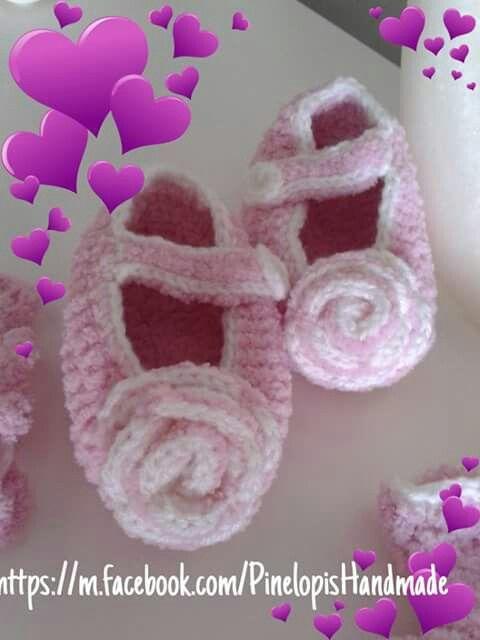 Crochet girlie shoes!  https://m.facebook.com/PinelopisHandmade/