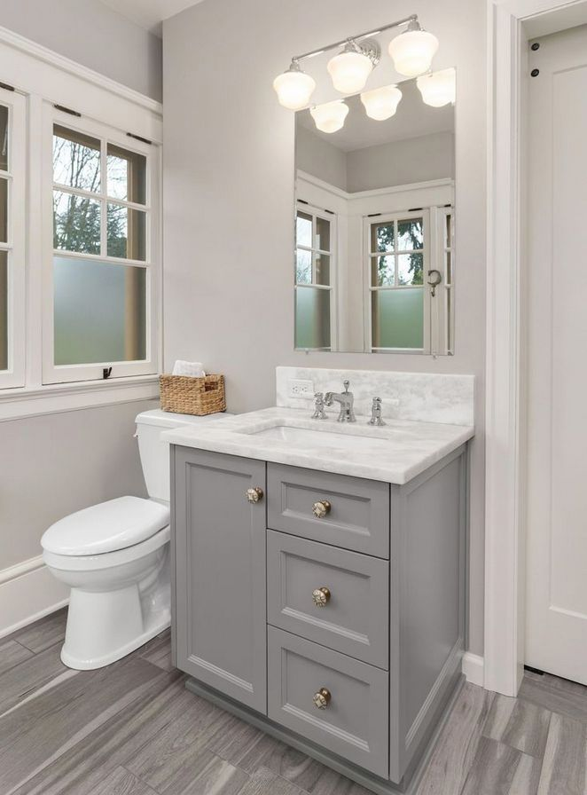 Welcome To Our Beautiful Gray Bathroom Ideas Photo Gallery For Your Inspiration Find Out These I Restroom Remodel Small Bathroom Vanities Small Bathroom Renos