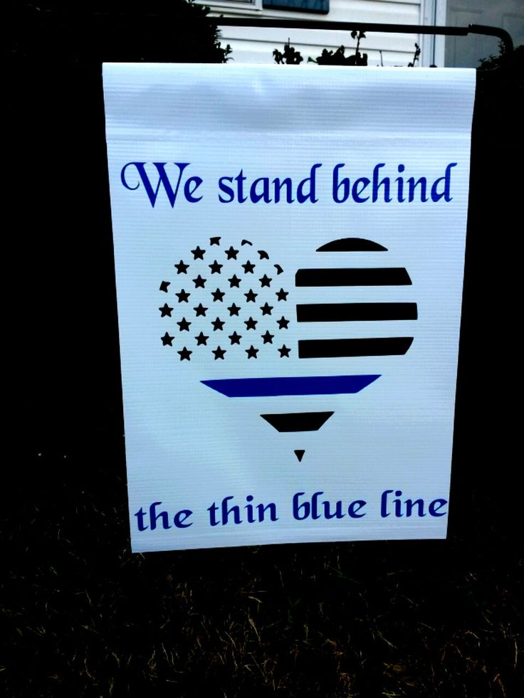 Police Thin Blue Line Decal heart, car decal, back the blue decal, vinyl decal,garden flag, thin blue line flag by TsVinylDesignz on Etsy