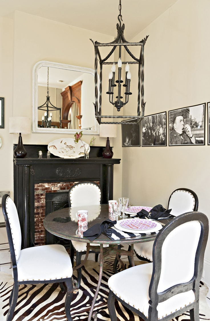 Rue Magazine May 2012 Issue Photography By Sara Essex Bradley Design Tiny Dining RoomsWhite RoomsZebra Print RugZebra