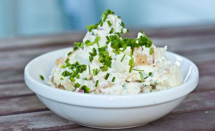 Potato Salad with Japanese Mayo A creamy potato salad with the nutty taste of sesame mayo.