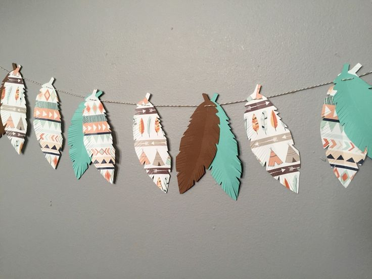 Tribal banner, tribal baby shower, tribal birthday, woodland nursery, woodland baby shower by juneforest on Etsy https://www.etsy.com/listing/255642701/tribal-banner-tribal-baby-shower-tribal