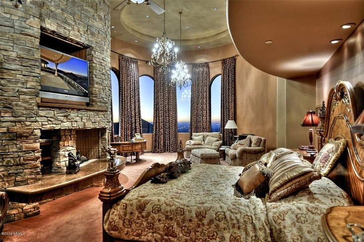 10 best images about dream bedrooms on pinterest Luxury fireplaces luxury homes