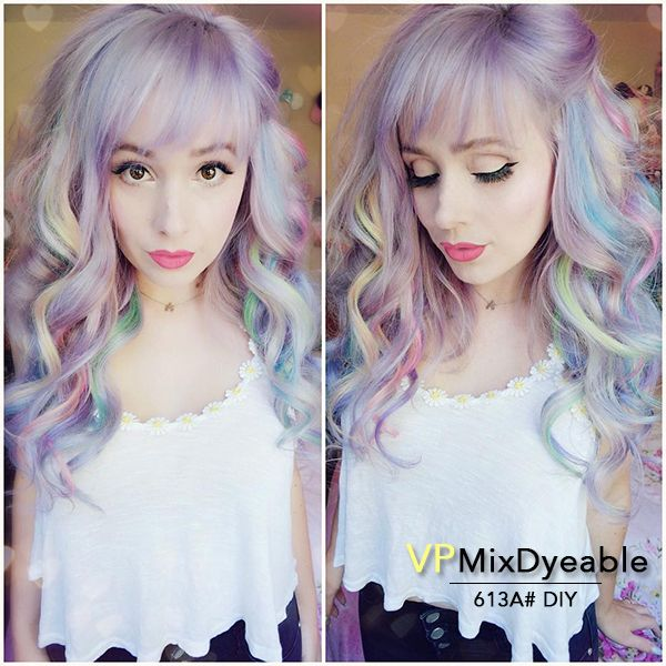 1255 best hair extensions wigs images on pinterest plaits we are so in love with and her multi colored extensions she keeps her hair colorful with our pastel purple conditioners pmusecretfo Images