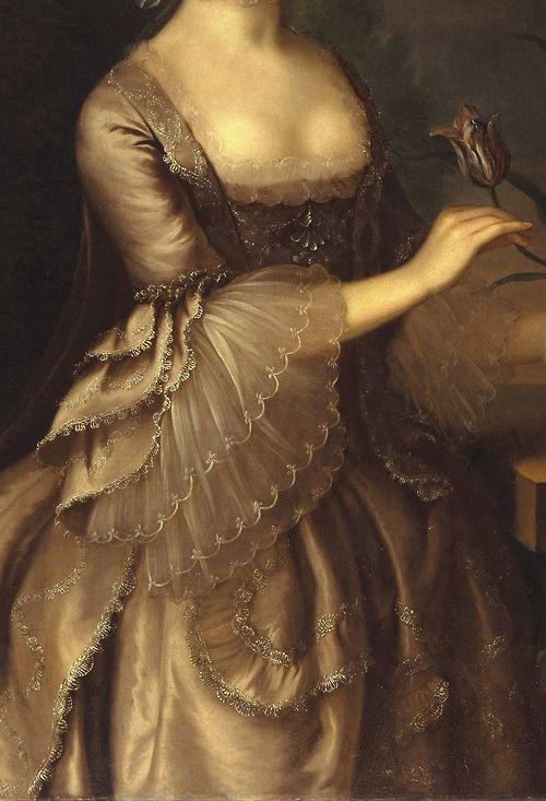 """Portrait of a Woman"" (1762) (Detail),byJoseph Blackburn (1730–1778)"
