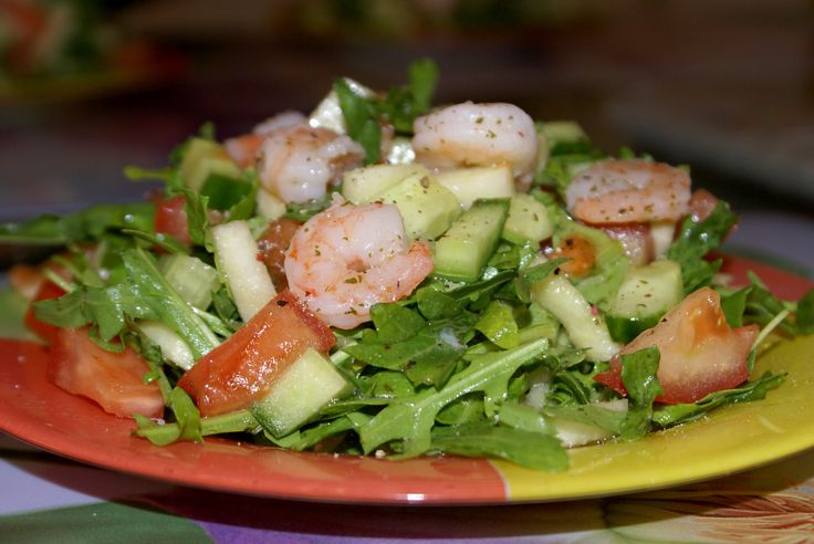 рецепты салата с креветками грушами с фото
