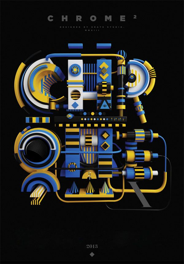 Typography with 3D Objects by Peter Tarka - 3D Typography Design Modelling