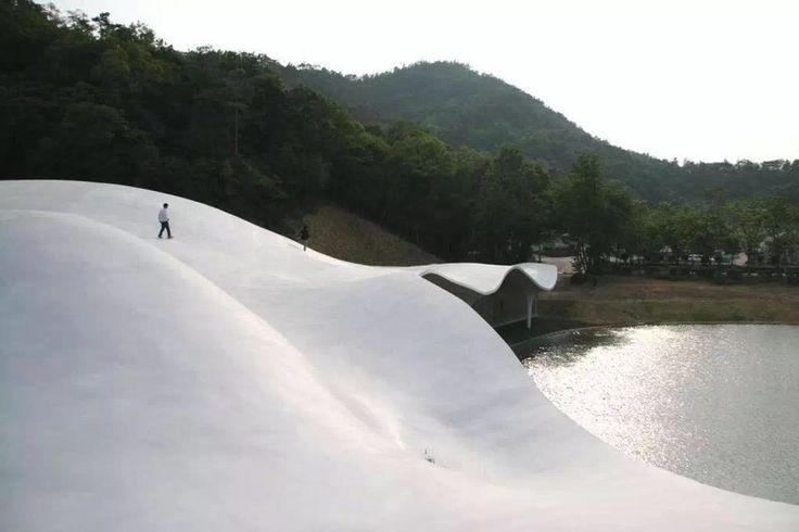 Toyo Ito, 'Meiso no Mori' Municipal Funeral Hall, 2004 May-2006 May, Gifu, Courtesy: Toyo Ito & Associates, Architects