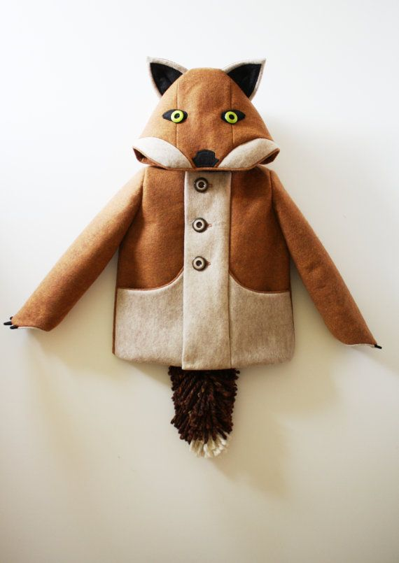 Kids Fox Coat// Boys Winter Coat// Kids Animal by littlegoodall