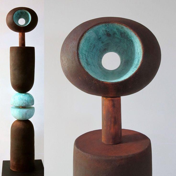 Heaven and Earth totem by ceramic artist Katarina Wells. Katarina will be exhibiting at Shyihli 25 Muraban Rd Dural in November.