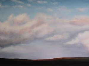 Mountain Sky 40.25x30.25cm oil on canvas 2015 www.elenaduff.com oil painting art irish art landscape contemporary art realist