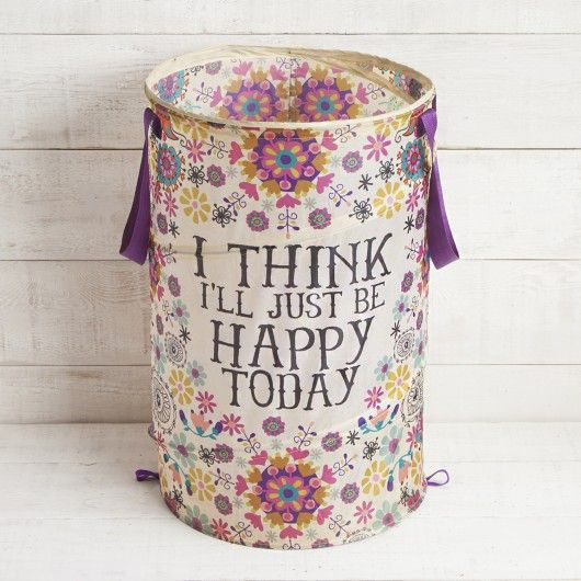 Be Happy Pop Up Laundry Hamper Part 29
