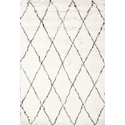 ... All Modern Rugs ~ Living Room. Norris Ivory/Navy Indoor/Outdoor Area Rug