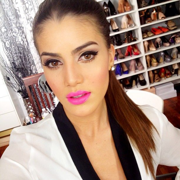 ".@makeupbycamila | Today's look! The lipstick is ""Fuschia Flash"" by Maybelline Gravan... 