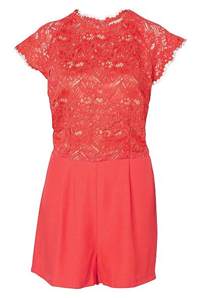 Lace Playsuit - Gorgeous colour! #witcherywishlist