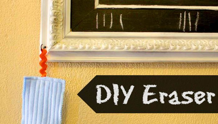Make an Eraser for Your Homemade Chalkboard via glueandglitter.com